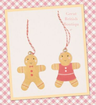 Cute Roger & Dolly Gingerbread Boy & Girl Christmas Gift Tags 6Pk - Sass & Belle