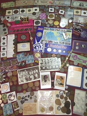 Junk Drawer LOT!! Foreign Bank Notes,Silver,Coins,watches,vintage,Estate,Sale