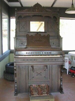 Antique Victorian Pump Organ CHICAGO COTTAGE **1896** MFG BY THE CABLE **WORKS**