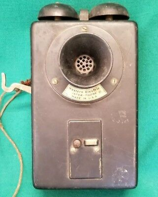 Western Electric Antique Intercom Wall Inter-Phone Telephone parts or project