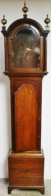 Antique Solid Oak Longcase Grandfather Clock Case Only Spares Or Repair