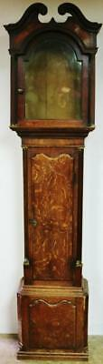 Antique Solid Oak & Mahogany Longcase Grandfather Clock Case Only Spares/Repair