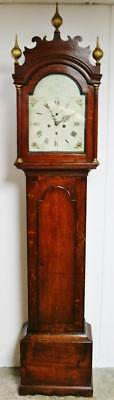 Antique C1830 English 8Day Striking Solid Oak Norwich Longcase Grandfather Clock