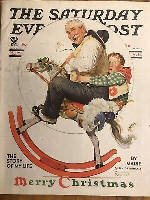 1933 Dec 16 The Saturday Evening Post Magazine - Norman Rockwell Cover - Sp 1542