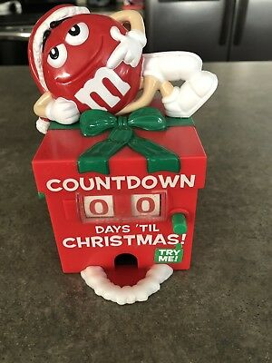 M & M Countdown to Christmas Candy Dispenser