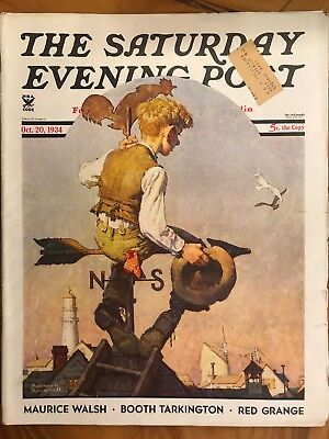 1934 October 20 THE SATURDAY EVENING POST MAGAZINE - NORMAN ROCKWELL