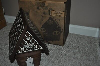 GINGERBREAD HOUSE Collectors Club® Longaberger Basket Lid Tie Ons - New In Box