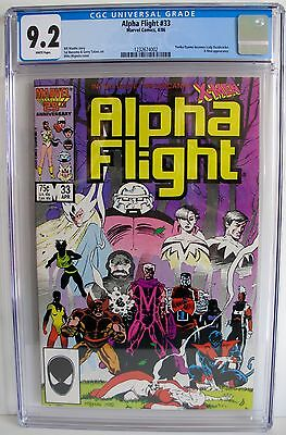 Alpha Flight No. 33 1986 CGC 9.2 Origin Lady Deathstrike X-Men Appearance