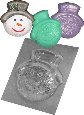 Brand New Christmas Snowman Plastic Mould Chocolate Soap Plaster Xmas Crafts