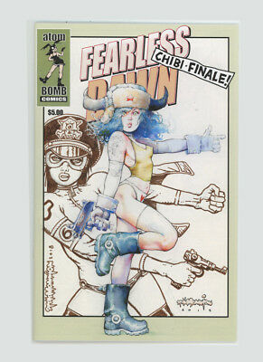 FEARLESS DAWN Chibi FINALE Comic Signed LARGE SKETCH on cover Steve Mannion!COOL