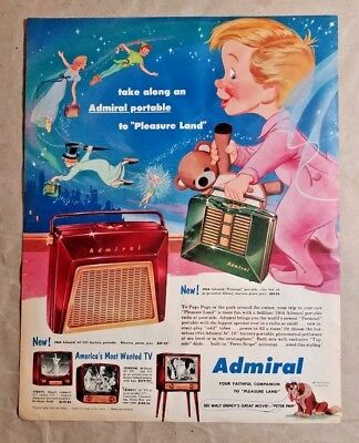 "Admiral Portable to ""Pleasure Land""  Vintage Print Advertisement"