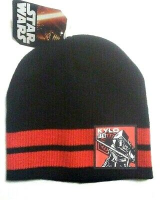 91d636ae47eb9 Disney Star Wars Boys Kylo Ren Winter Knit Hat Beanie NWT OSFM Black