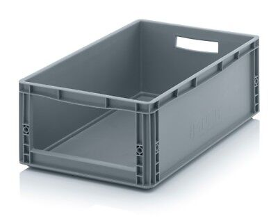 Storage Containers 60x40x22 with Window Stacking Box Eurobox Stackable
