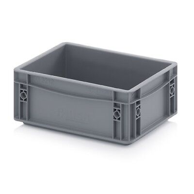 Plastic Container 30x20x12 Plastic Containers Plastic Crate Transport Box Grey