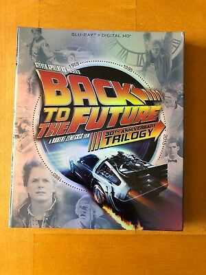 Back to the Future Trilogy Blu-Ray + Digital HD New W/Slip Cover - 4-Disc Set