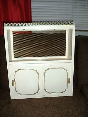 Vintage Mid Century Metal Wall Hung Medicine Cabinet Chest