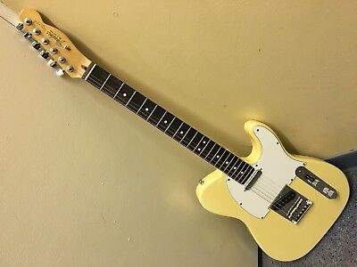 Fender Telecaster Electric Guitar Blone on White 1980s' Made in USA
