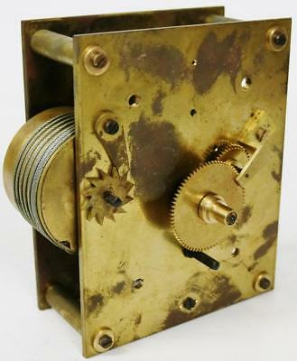 Antique 19thc English Single Fusee Wire Driven Wall Clock Movement Spares/Repair