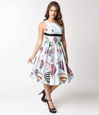 NEW! Unique Bintage Hot Air Balloon Dress, Size XL, Pin Up Girl