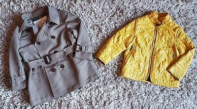 Burberry Boy/Girl Designer 2 In 1 Trench Coat/Jacket 2 Year Excellent RRP £540