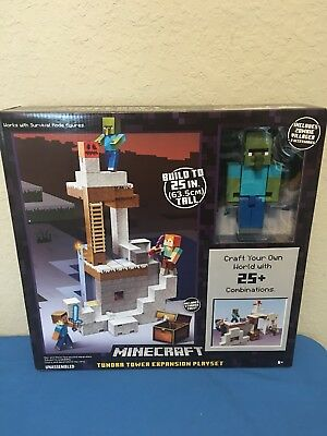 MINECRAFT TUNDRA TOWER Expansion Playset with 2 Zombie Villagers