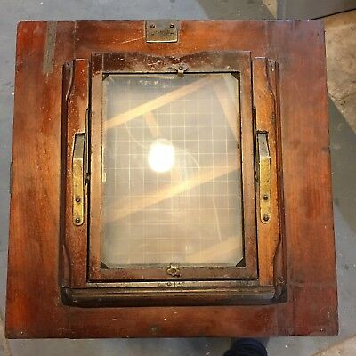 8x10 To 5x7 Camera Back With Ground Glass- Vintage, Wooden