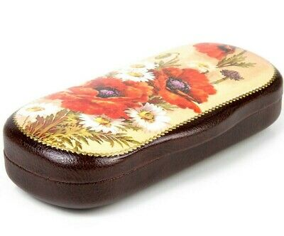 Eye Glasses Case with Palekh Style Motif. Russian Troika Lacquer Trinket Box