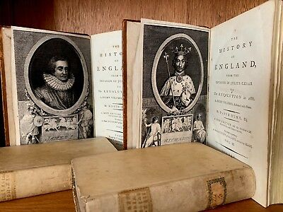 COLLECTION OF OLD BOOKS 1700s  D.Hume History of England, Ecclesiastical History