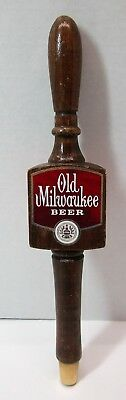 Vintage Old Milwaukee Beer Wooden 3-Sided Beer Tap Handle Pull Knob