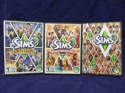 The SIMS 3 W/2 expansion packs, all used,  PC Win-XP 2009  A2