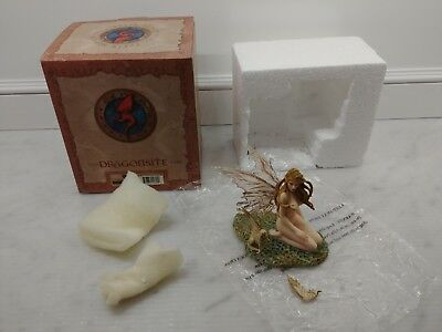 Dragonsite  AMBER Limited Edition Faerie w/CAT Fairy Sprite in box (see discript