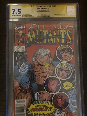 collectibles comics Marvel Signed By Rob Liefeld New Mutants Number 87 CGC 7.5