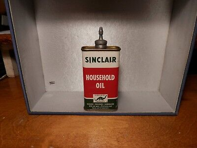 Vintage Lead Top Sinclair Household Oil Can With Dinosaur On Can