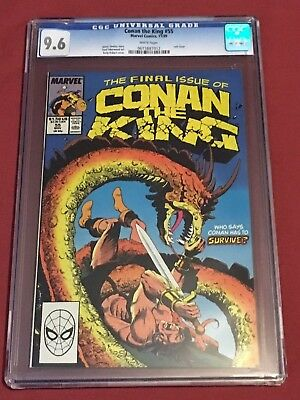 CONAN THE KING 55 CGC 9.6  Case is Cracked  NO RETURNS