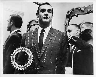 James BOND Sean Connery GETTING FITTED FOR NEW SUIT still THUNDERBALL 1965 vint!