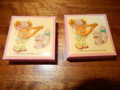 Vintage Strawberry Shortcake Angel Cake Boxed Jewellery Necklace And PIn 1985