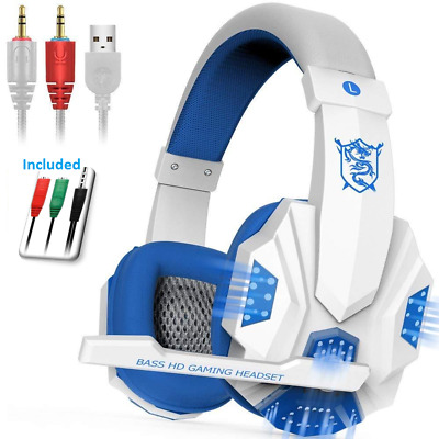 Stereo Gaming Headset for PC PS4 Xbox One Controller w Mic Over Ear Headphones