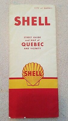 Vintage Fold Out Road Map - Quebec and Vicinity Highway Map - Shell Oil Company
