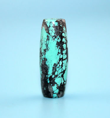 36*13 mm Antique Undressed dzi turquoise old Bead from Tibet **Free shipping**