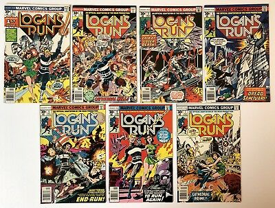 Logans Run 1-7 Nm (1976 ) Complete Set Includes #6 1St Thanos Solo Story