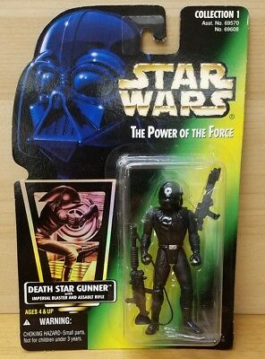 New 1996 Kenner Star Wars Power of the Force Death Star Gunner NOC