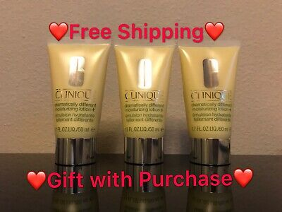 3×1.7oz/50ml ClinIque Dramatically different moisturizing lotion TravelSize tube