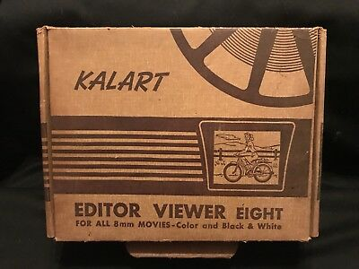 Vintage Collectible Kalart Editor Viewer Eight For All 8MM Movies Color B&W USA
