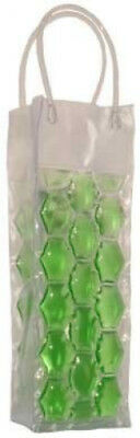 (Green) - Chill It - Wine Bag Beer Bottle Cooler & Ice Chiller Freezable