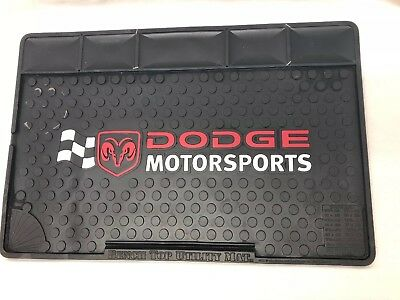 Dodge Motorsports Bench Top Utility Mat Toolbox Garage Mechanic Mancave 23x15