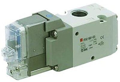 SMC VP544-5DZ-03B 3-Port/Pilot Poppet Solenoid Valve, Rubber Seal, Body Ported