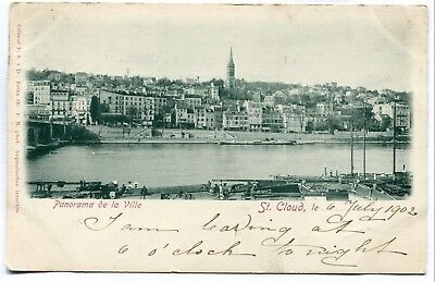 CPA - Carte Postale - France - Saint Cloud - Panorama de la Ville - 1902 (SV6296