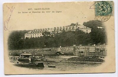 CPA - Carte Postale - France - Saint Cloud - La Seine et Caserne