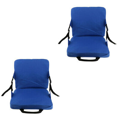2pcs Rocking Chair Cushions Outdoor Folding Fishing Chair Seat & Back Pad