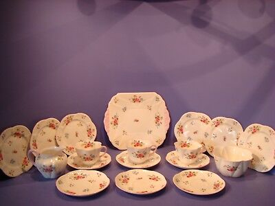 Shelley Rose And Red Daisy Pattern 13425, Part Tea Set, 18 Pieces, Dainty Shape